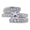 0.95 ct. Princess Cut Bridal Set Ring, E-F, I1 #1