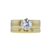 1.00 ct. Round Cut Bridal Set Ring, K, I1 #3