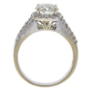 Art Deco GIA 1.89 ct. Round Cut Bridal Set Ring, L, SI1 #4