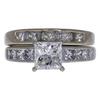 1.42 ct. Princess Cut Bridal Set Ring, G-H, SI1 #2