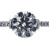1.00 ct. Round Cut Bridal Set Ring, I, VS2 #4