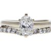 1.01 ct. Oval Cut Bridal Set Ring, G, SI1 #3