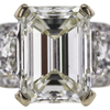 3.04 ct. Emerald Cut 3 Stone Ring, K, SI1 #4