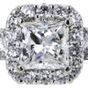 2.01 ct. Princess Cut Halo Ring #4