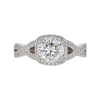 1.51 ct. Round Modified Brilliant Cut Halo Tacori Ring, H, I1 #3