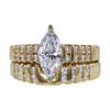 1.06 ct. Marquise Cut Bridal Set Ring, D, I1 #2