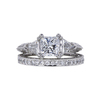 1.14 ct. Princess Cut Bridal Set Ring, E, VVS2 #3