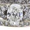 1.00 ct. Oval Cut Bridal Set Ring, H, SI1 #4