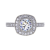 0.92 ct. Round Cut Halo Ring, H, SI1 #2