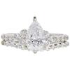 1.32 ct. Pear Cut Bridal Set Ring, D, SI1 #3
