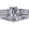 0.77 ct. Emerald Cut Bridal Set Ring, G, VS2 #3