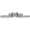 1.01 ct. Princess Cut Bridal Set Ring, J, SI2 #4
