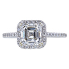 1.53 ct. Asscher Cut Halo Ring, G, VVS2 #3
