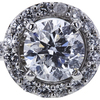 1.13 ct. Round Cut Bridal Set Ring, E, I2 #4