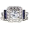 0.95 ct. Round Cut Bridal Set Ring, G-H, I1 #1