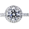 1.21 ct. Round Cut Halo Ring, D, VVS1 #4
