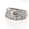Art Deco .82 ct. Princess Cut Bridal Set Ring #1