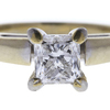 0.99 ct. Princess Cut Solitaire Ring, G, SI2 #1