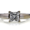 0.99 ct. Princess Cut Bridal Set Ring #2