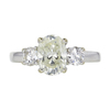 1.38 ct. Oval Cut 3 Stone Ring, L, SI1 #3