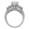 0.99 ct. Oval Cut 3 Stone Ring, E-F, I1 #3