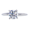 1.00 ct. Round Cut Solitaire Ring, H, I1 #3