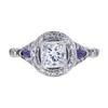 1.00 ct. Princess Cut Halo Ring, F, SI2 #3