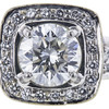 2.02 ct. Round Cut Halo Ring, J, SI2 #4