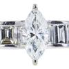 1.10 ct. Marquise Cut Bridal Set Ring, I-J, SI2 #1