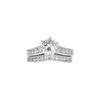 1.03 ct. Round Cut Bridal Set Ring, G, SI2 #3