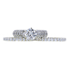 1.39 ct. Round Cut Bridal Set Ring, G, I1 #3