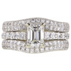 1.0 ct. Emerald Cut Bridal Set Ring, G, I1 #3