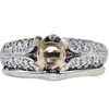 1.02 ct. Round Cut Bridal Set Ring, I, I1 #3