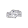 2.55 ct. Princess Cut Ring, F-G, I1-I2 #2