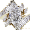 3.00 ct. Marquise Cut Central Cluster Ring, G, VS1 #4