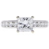 1.21 ct. Princess Cut Central Cluster Ring, F, VS2 #3