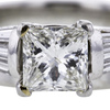 1.24 ct. Princess Cut Bridal Set Ring #2