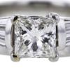 1.24 ct. Princess Cut Bridal Set Ring #2