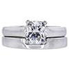 1.71 ct. Cushion Cut Bridal Set Ring, H, SI1 #2