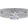 0.73 ct. Round Cut Bridal Set Ring, E, VVS2 #3