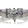 0.82 ct. Pear Cut Solitaire Ring #3