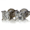 Art Deco Princess Cut Stud Earrings #2