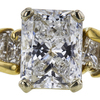 1.90 ct. Radiant Cut Solitaire Ring, E, I1 #4