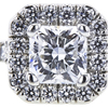 0.73 ct. Radiant Cut Halo Ring, D, VS2 #4