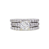 0.98 ct. Round Cut Bridal Set Ring, L, SI2 #3