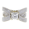 0.9 ct. Princess Cut Central Cluster Ring, H, VS1 #1