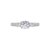 0.72 ct. Round Cut 3 Stone Ring, H, VS2 #3