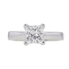 1.07 ct. Princess Cut Solitaire Ring, E, VS2 #3