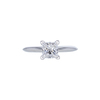 0.74 ct. Princess Cut Solitaire Tiffany & Co. Ring, F, VS1 #3