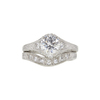 1.02 ct. Round Cut Bridal Set Ring, G, SI1 #3